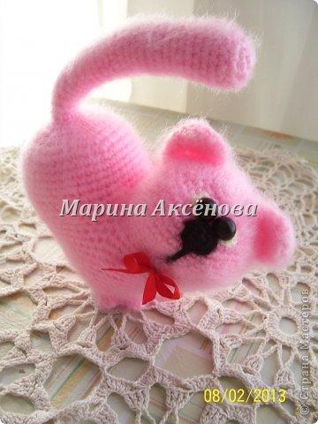 Сердечный котик от Марины Шадриной.