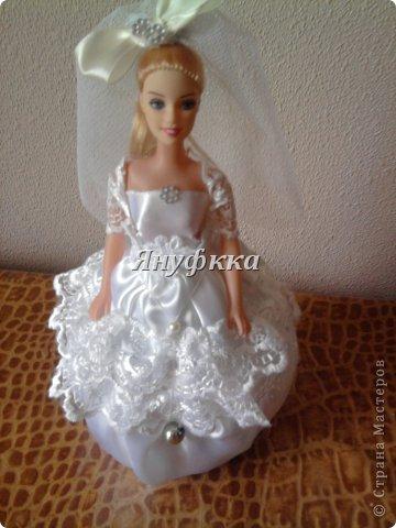 Кукла-шкатулка,невеста.Делала подруге на День рождения. фото 1