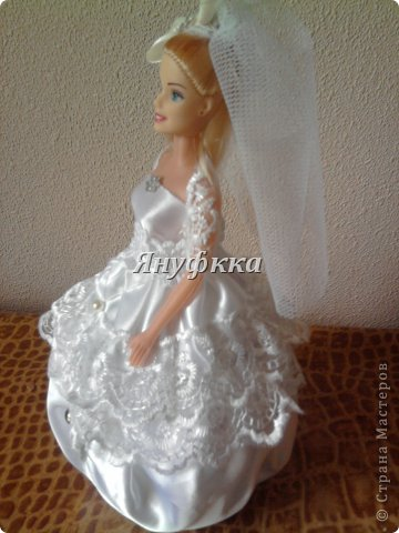 Кукла-шкатулка,невеста.Делала подруге на День рождения. фото 2