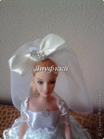 Кукла-шкатулка,невеста.Делала подруге на День рождения. фото 4
