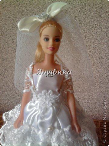 Кукла-шкатулка,невеста.Делала подруге на День рождения. фото 3