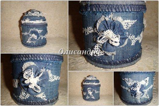 Шкатулка джинсовая своими руками