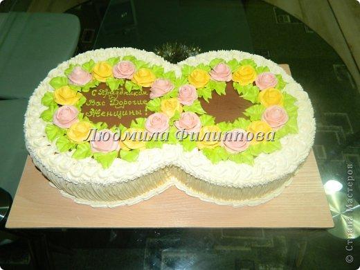 Добрый день Дорогие Мастерицы! Вот такие тортики я сделала на 8 Марта сотрудницам мужа. фото 11