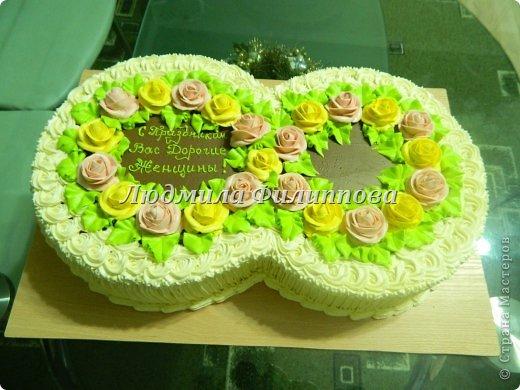 Добрый день Дорогие Мастерицы! Вот такие тортики я сделала на 8 Марта сотрудницам мужа. фото 8
