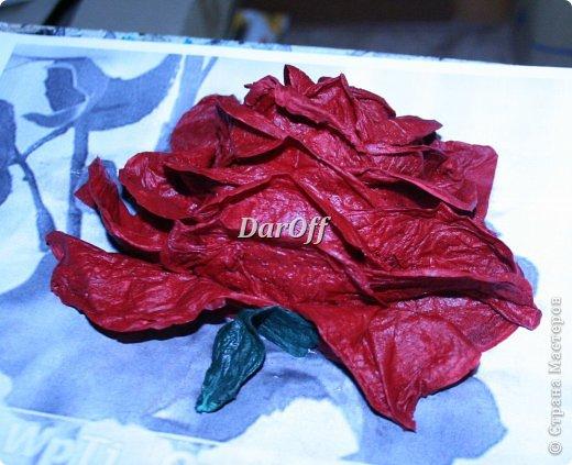 .... Пока сохнет наша роза https://stranamasterov.ru/node/535001, мы сделаем еще один цветок.. из всего того же самого! фото 1