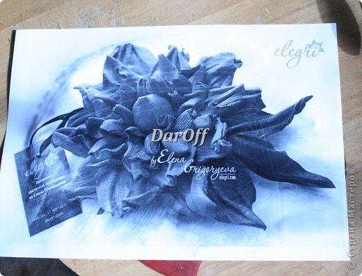 .... Пока сохнет наша роза https://stranamasterov.ru/node/535001, мы сделаем еще один цветок.. из всего того же самого! фото 2
