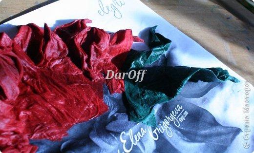 .... Пока сохнет наша роза https://stranamasterov.ru/node/535001, мы сделаем еще один цветок.. из всего того же самого! фото 11