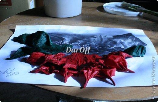 .... Пока сохнет наша роза https://stranamasterov.ru/node/535001, мы сделаем еще один цветок.. из всего того же самого! фото 12