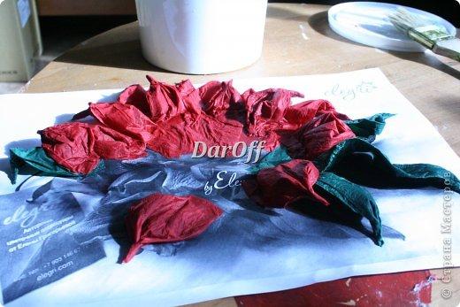 .... Пока сохнет наша роза https://stranamasterov.ru/node/535001, мы сделаем еще один цветок.. из всего того же самого! фото 13