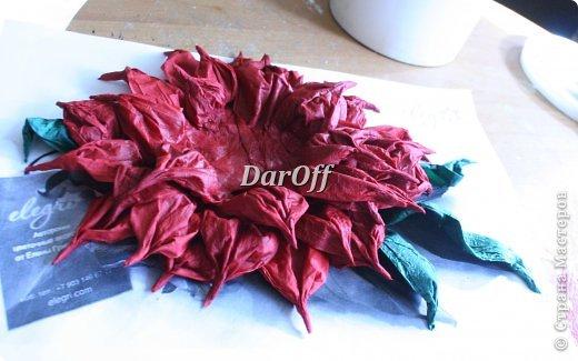 .... Пока сохнет наша роза https://stranamasterov.ru/node/535001, мы сделаем еще один цветок.. из всего того же самого! фото 15