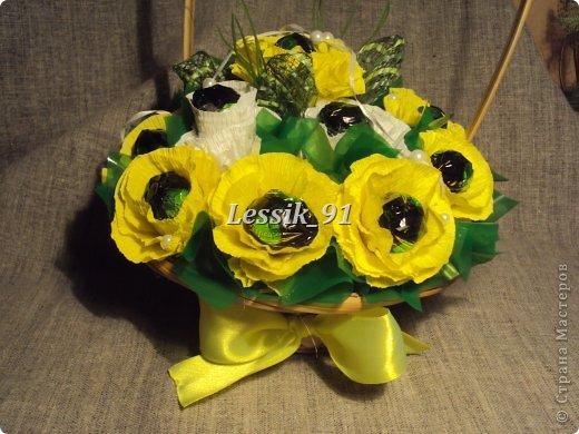 это еще новогодний букет! сделаны цветы из органзы - белой и синей! фото 4
