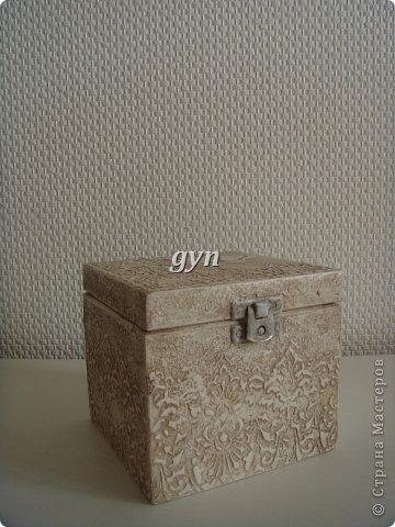 Ящик и шкатулка в винтажной технике фото 10