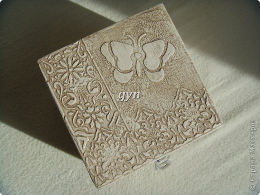 Ящик и шкатулка в винтажной технике фото 8