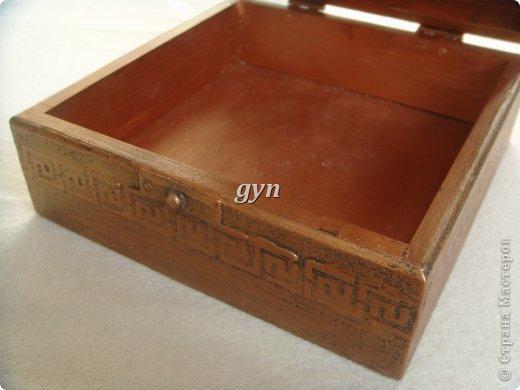 Ящик и шкатулка в винтажной технике фото 3