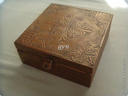Ящик и шкатулка в винтажной технике фото 4