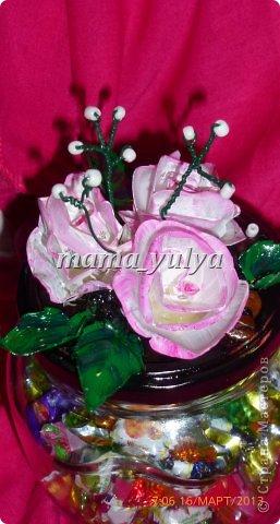 Вот такая конфетница готова отправиться в подарок на День рождения одной замечательной девушке!!! фото 4