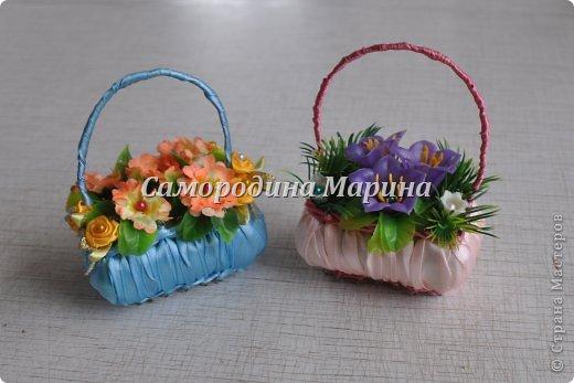 Вот такие корзиночки можно сделать в подарок... фото 1