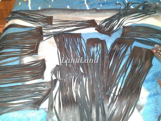 мечты сбываются)кожаная сумка с бахромой фото 10