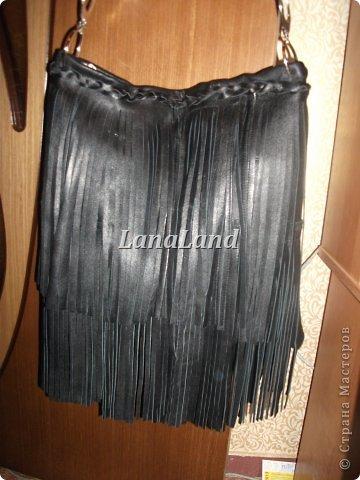 мечты сбываются)кожаная сумка с бахромой фото 16