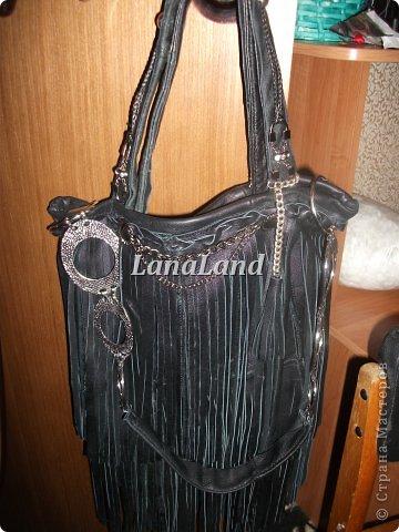мечты сбываются)кожаная сумка с бахромой фото 21