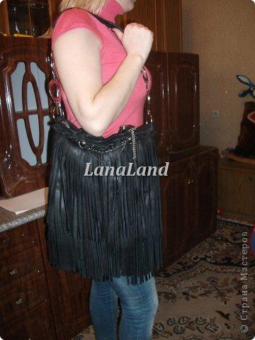 мечты сбываются)кожаная сумка с бахромой фото 2