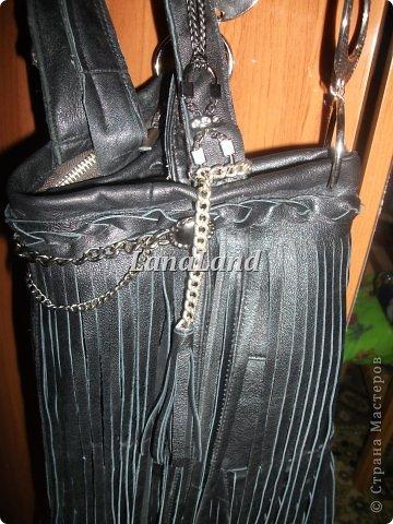 мечты сбываются)кожаная сумка с бахромой фото 22