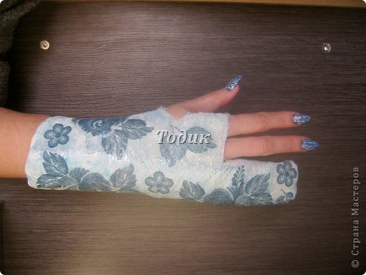ЭТО МОЯ УКРАШЕННАЯ РУКА В ГИПСЕ  (выполнена левой рукой) фото 1