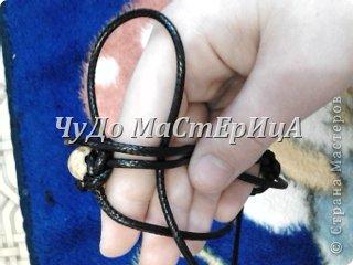 Браслет шамбала толстой нитками муляне либо веревочками либо же шнурками Нам понадобятся два отрезка нашей верёвочки ниточки . Один 40-45 см. Второй 120-125 см. фото 12
