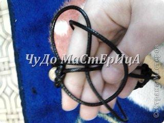 Браслет шамбала толстой нитками муляне либо веревочками либо же шнурками Нам понадобятся два отрезка нашей верёвочки ниточки . Один 40-45 см. Второй 120-125 см. фото 13
