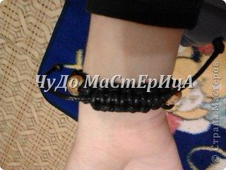 Браслет шамбала толстой нитками муляне либо веревочками либо же шнурками Нам понадобятся два отрезка нашей верёвочки ниточки . Один 40-45 см. Второй 120-125 см. фото 17