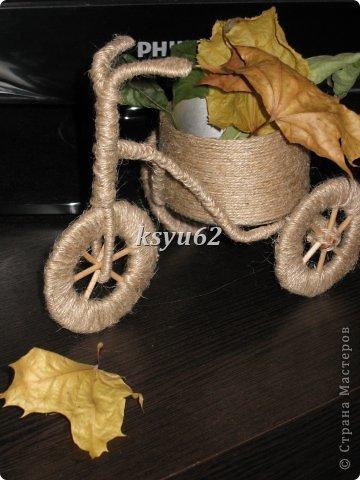 Поделка изделие Моделирование конструирование Велосипед Шпагат фото 3