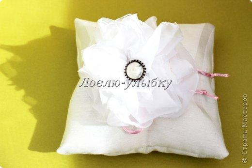 Мастер-класс Поделка изделие Свадьба Шитьё Подушечка для колец Ленивый способ Ткань фото 9
