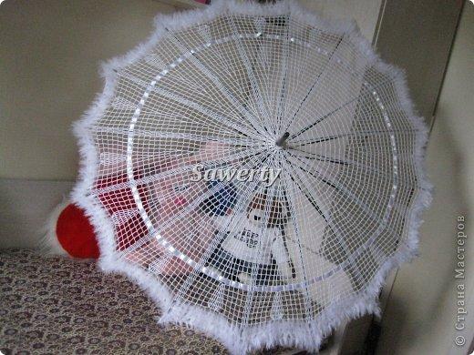 крючком Кружевной зонт