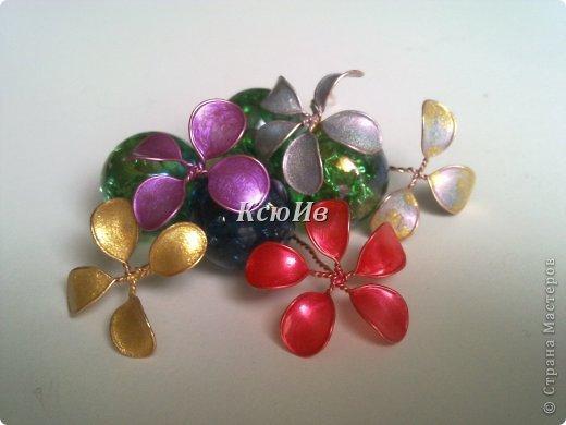 Фото цветы из проволоки и лака для ногтей