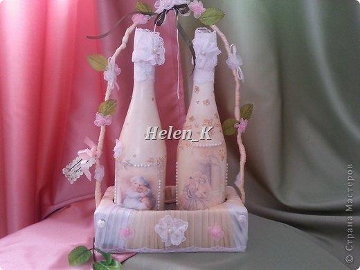 Подставка под шампанское своими руками на свадьбу