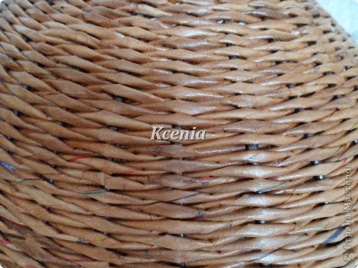 Поделка изделие Плетение Плетеные корзины для четвероногих Бумага газетная Картон гофрированный Трубочки бумажные...