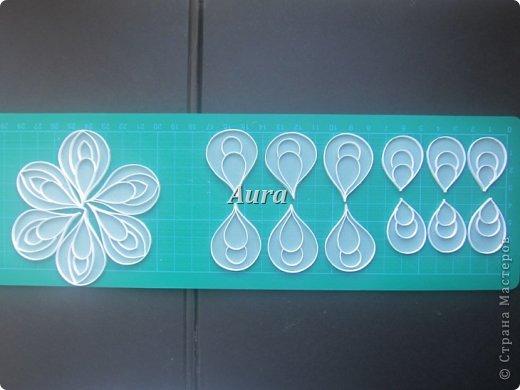 День добрый! Работаю над новой композицией, центральной частью которой будут эти анемоны. Сборка – дело долгое, потому сначала покажу, как делаю такие цветочки. Получаются они очень нежными, воздушными. Цветок, исполненный в такой технике я увидела впервые на сайте Botanical Quilling Japan - ссылка внизу поста, здесь не получается вставить активную:(.  МК на сайте я не нашла, но принцип вполне ясен по фото. Решила поделиться с вами процессом:)) фото 4