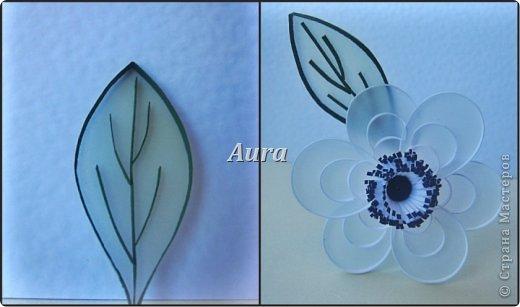 День добрый! Работаю над новой композицией, центральной частью которой будут эти анемоны. Сборка – дело долгое, потому сначала покажу, как делаю такие цветочки. Получаются они очень нежными, воздушными. Цветок, исполненный в такой технике я увидела впервые на сайте Botanical Quilling Japan - ссылка внизу поста, здесь не получается вставить активную:(.  МК на сайте я не нашла, но принцип вполне ясен по фото. Решила поделиться с вами процессом:)) фото 10