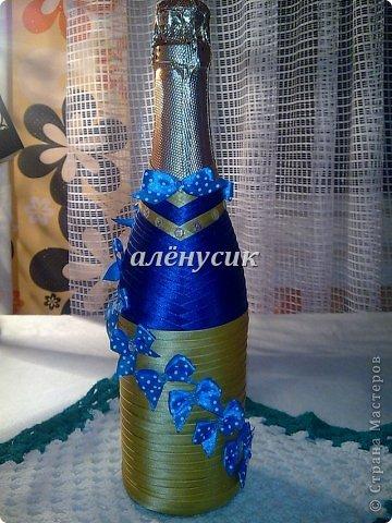 Бутылка в бантиках на день варенья)  фото 1