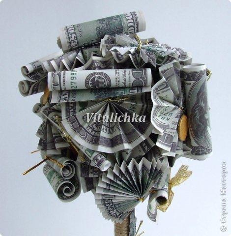 По просьбам коллег сделала несколько денежных деревьев. фото 4