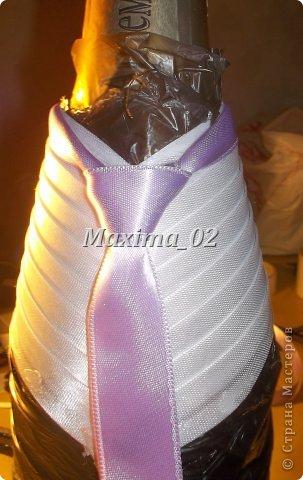Поступил заказ с магазина сделать несколько пар свадебных чехлов для бутылок в различной цветовой гамме.Начала я с фиолетового.... фото 15