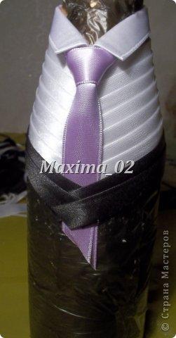 Поступил заказ с магазина сделать несколько пар свадебных чехлов для бутылок в различной цветовой гамме.Начала я с фиолетового.... фото 21