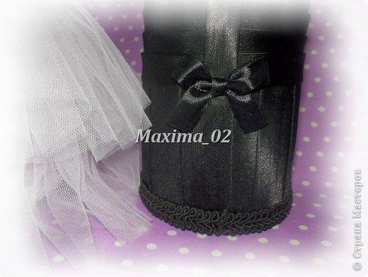 Поступил заказ с магазина сделать несколько пар свадебных чехлов для бутылок в различной цветовой гамме.Начала я с фиолетового.... фото 6