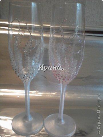 В результате долгих трудов получились вот такие бокальчики со свечками-  серо-жемчужный и розово-жемчужный фото 4
