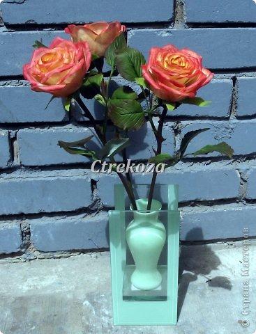 Розы из полимерной глины. фото 1