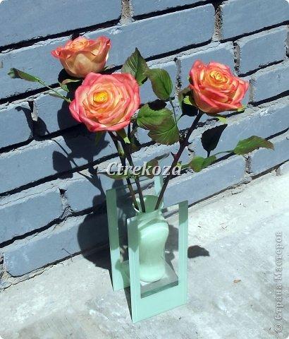 Розы из полимерной глины. фото 2