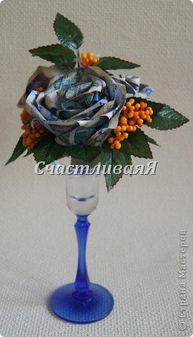 Вот такие интерьерные композиции получились у меня благодаря МК Юлии, за что ей большое спасибо https://stranamasterov.ru/node/455287 Розы из денежных купюр в стеклянном фужере. фото 1
