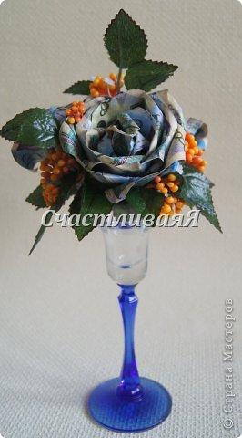 Вот такие интерьерные композиции получились у меня благодаря МК Юлии, за что ей большое спасибо https://stranamasterov.ru/node/455287 Розы из денежных купюр в стеклянном фужере. фото 2