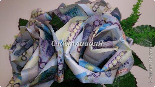 Вот такие интерьерные композиции получились у меня благодаря МК Юлии, за что ей большое спасибо https://stranamasterov.ru/node/455287 Розы из денежных купюр в стеклянном фужере. фото 7