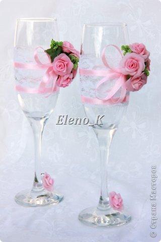 Свадебніе бокалы фото 2
